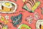ハワイの食卓を表現したアロハシャツ『KAUKAU ONO』